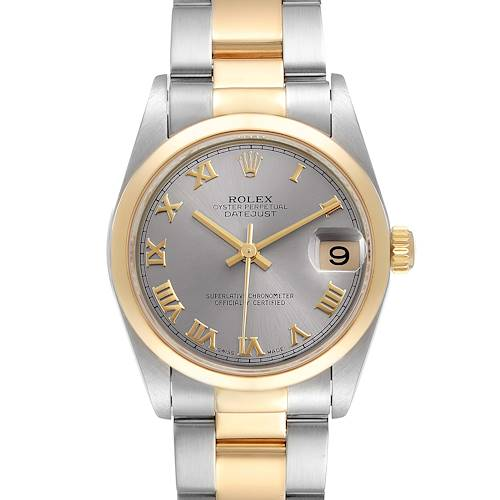 Photo of Rolex Datejust 31 Midsize Steel Yellow Gold Slate Dial Ladies Watch 78243