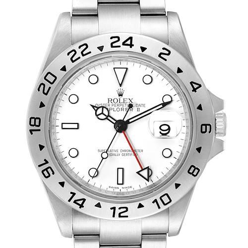 Photo of Rolex Explorer II 40mm White Dial Steel Mens Watch 16570 Box Card