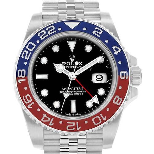 Photo of Rolex GMT Master II Pepsi Bezel Jubilee Steel Watch 126710 Unworn