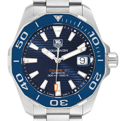 Photo of Tag Heuer Aquaracer Blue Dial Automatic Steel Mens Watch WAY211C
