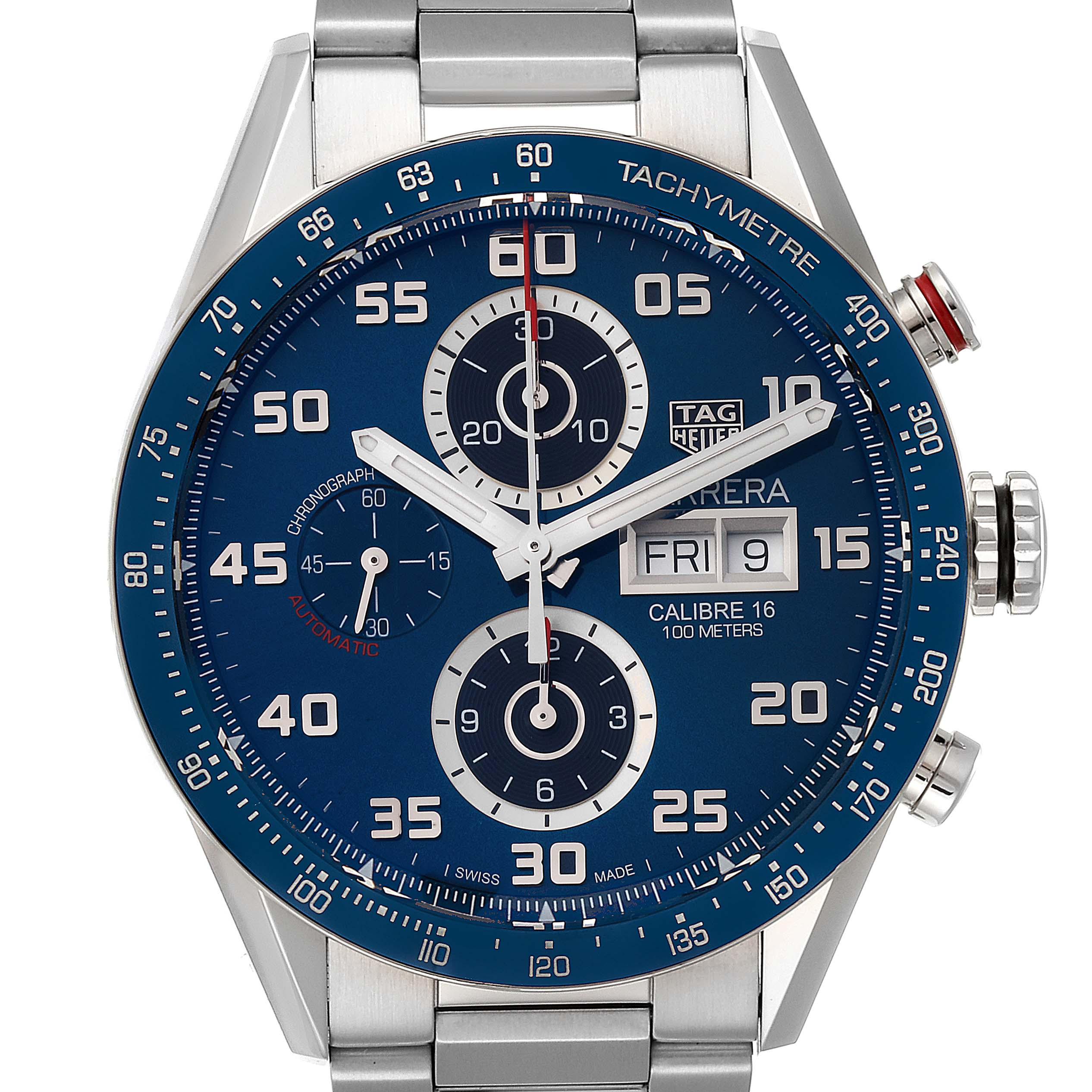 Photo of Tag Heuer Carrera Blue Dial Chronograph Steel Mens Watch CV2A1V