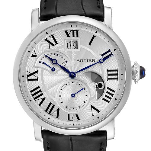 Photo of Cartier Rotonde Retrograde GMT Time Zone Steel Mens Watch W1556368