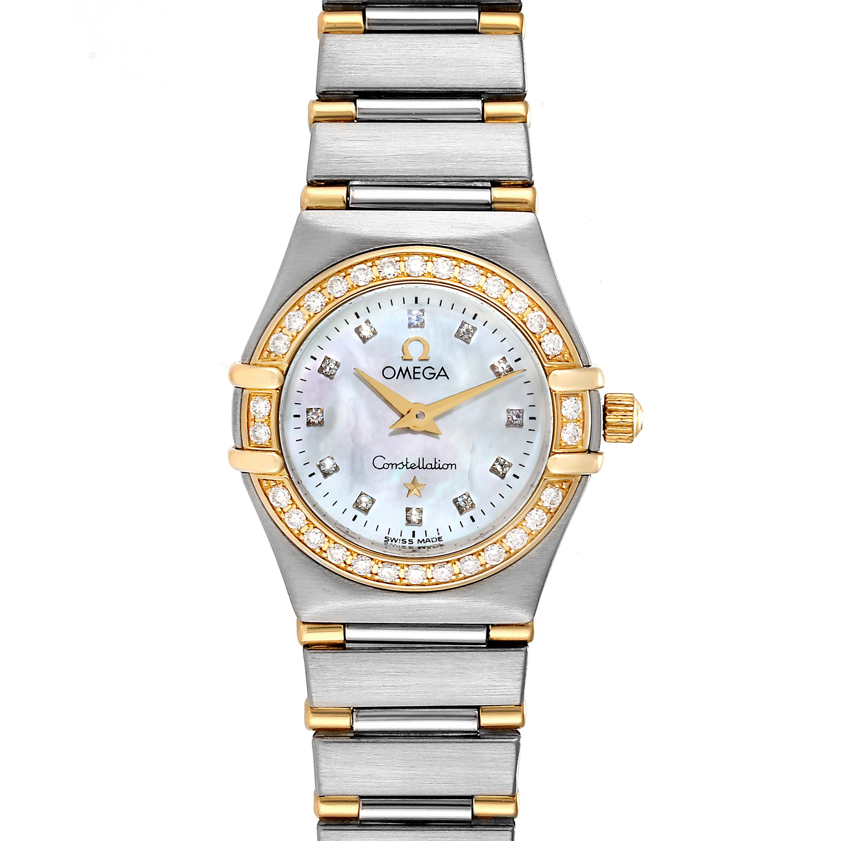 Omega Constellation 95 Mother of Pearl Diamond Ladies Watch 1267.75.00 SwissWatchExpo