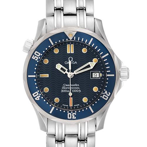 Photo of Omega Seamaster Bond 36 Midsize Blue Dial Watch 2561.80.00 Box Card