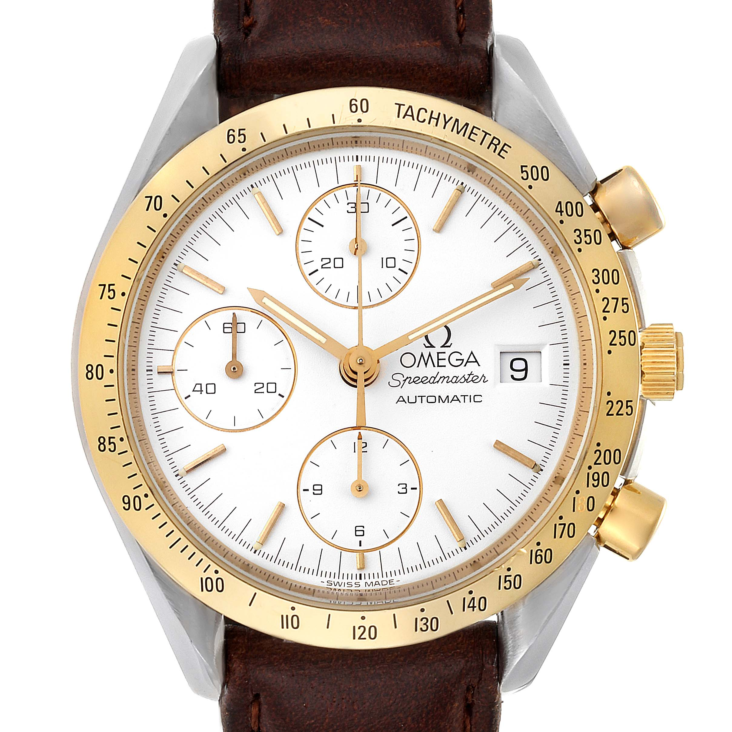 Omega Speedmaster Date Steel Yellow Gold Chronograph Watch 3311.20.00