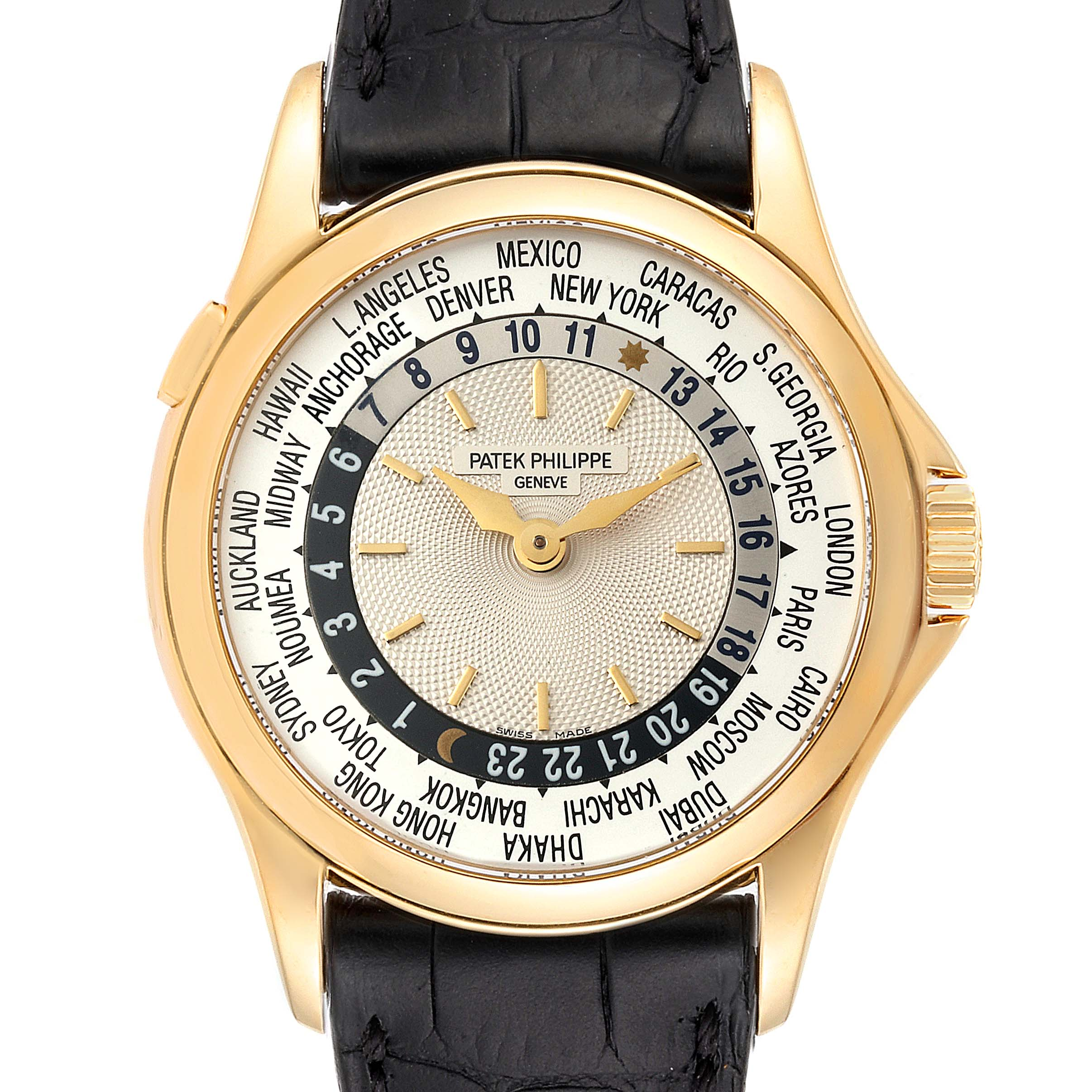 Photo of Patek Philippe World Time Complications Yellow Gold Watch 5110 Box Papers PARTIAL PAYMENT