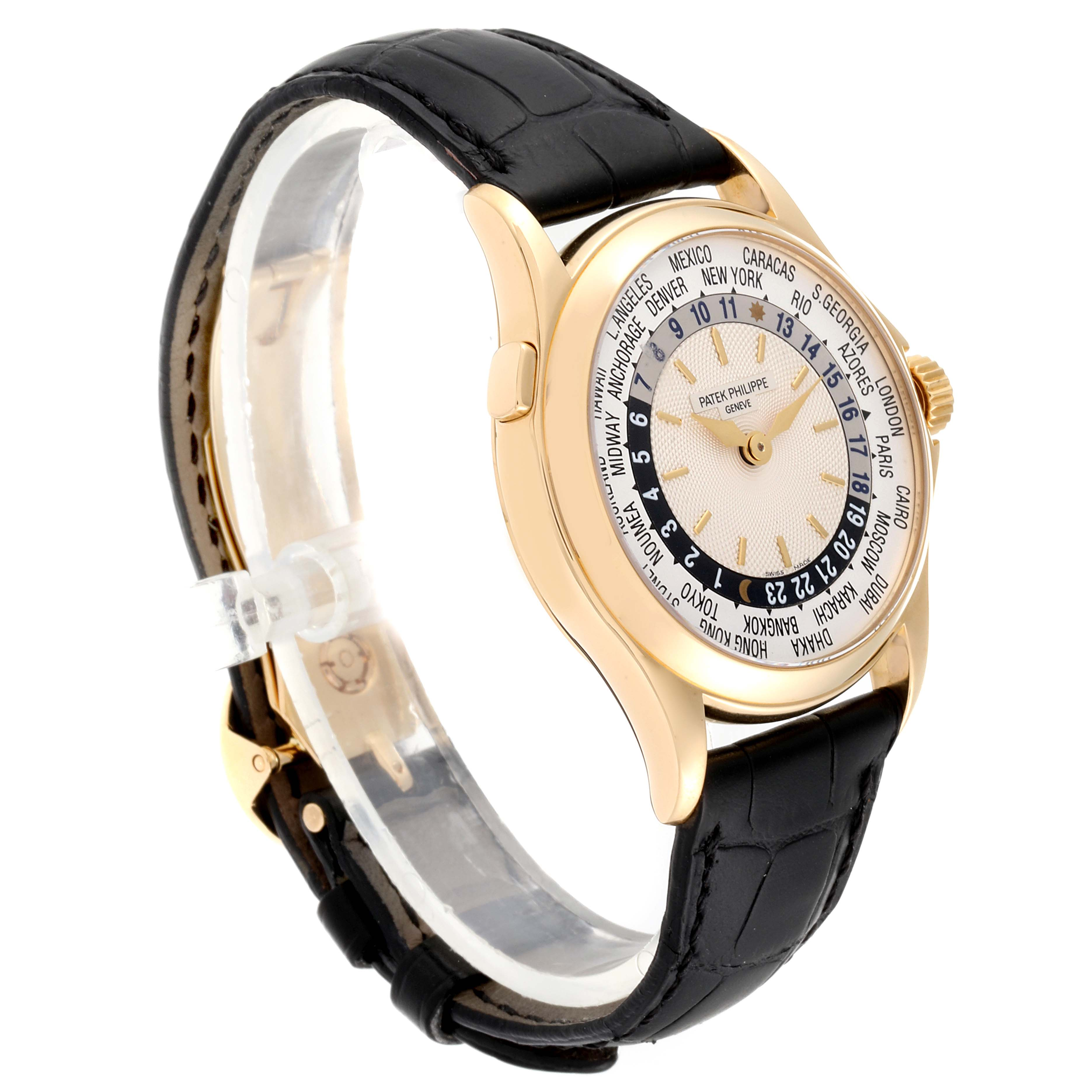 Patek Philippe World Time Complications Yellow Gold Watch 5110 Box Papers PARTIAL PAYMENT SwissWatchExpo