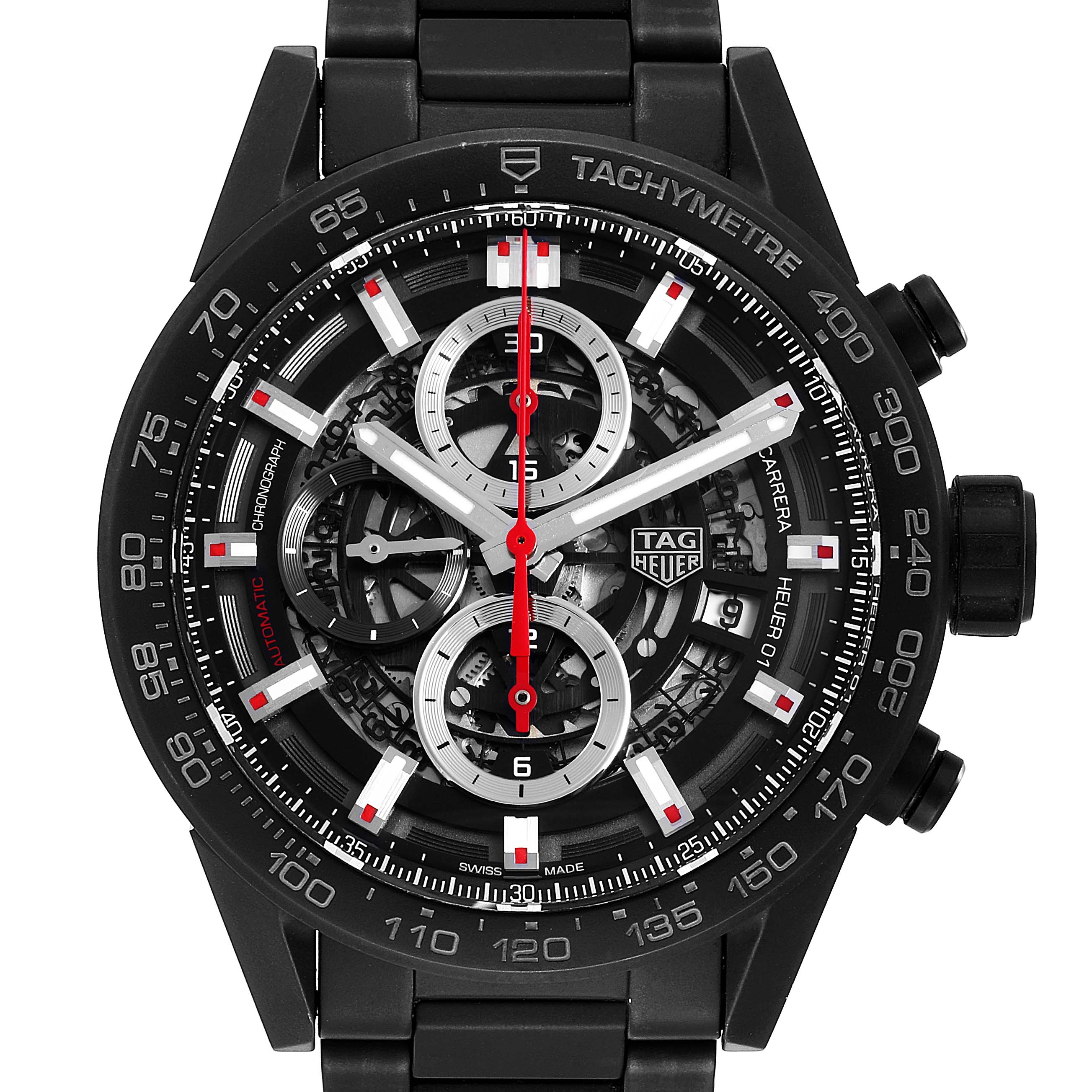 Photo of TAG Heuer Carrera Calibre 01 Skeleton Mens Watch CAR2090 Box