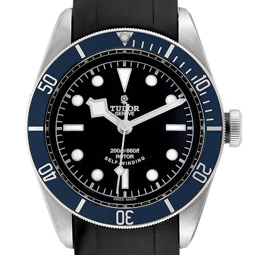 Photo of Tudor Heritage Black Bay Blue Bezel Steel Watch 79220B Box Card