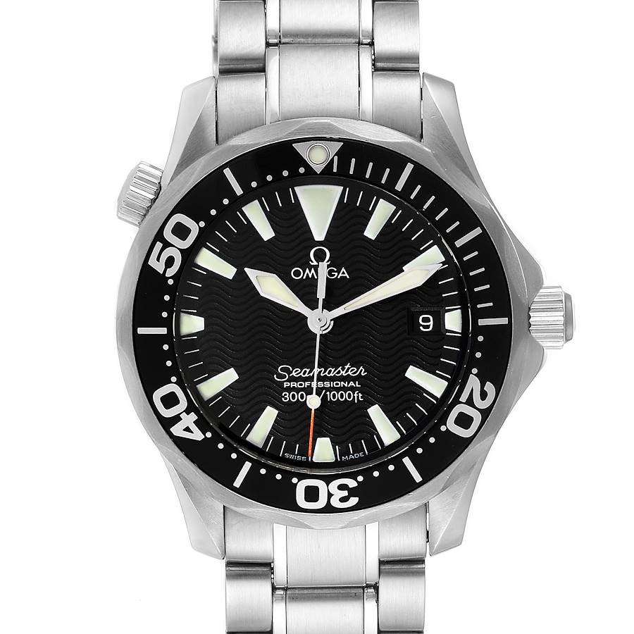 Omega Seamaster James Bond 36 Midsize Black Dial Watch 2262.50.00 SwissWatchExpo