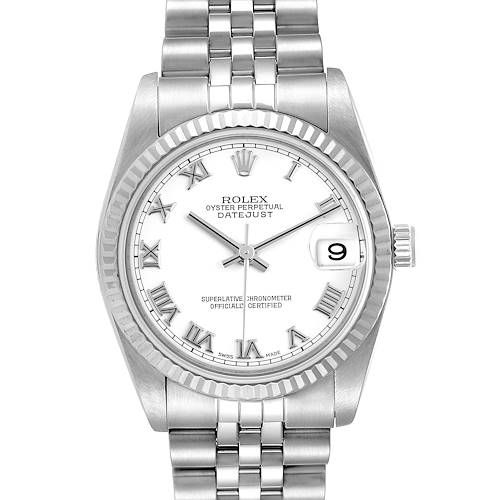 Photo of Rolex Datejust Midsize Steel White Gold White Dial Ladies Watch 78274
