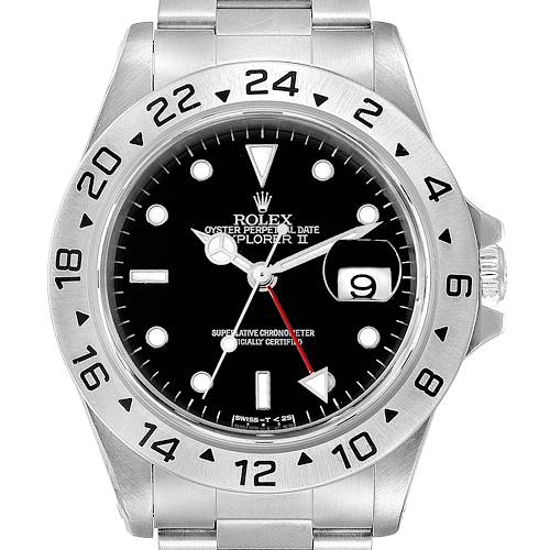 Photo of Rolex Explorer II Black Dial Automatic Steel Mens Watch 16570 Box Papers