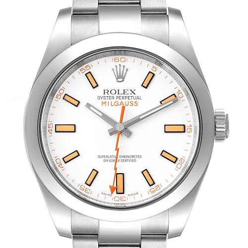 Photo of Rolex Milgauss White Dial Stainless Steel Mens Watch 116400