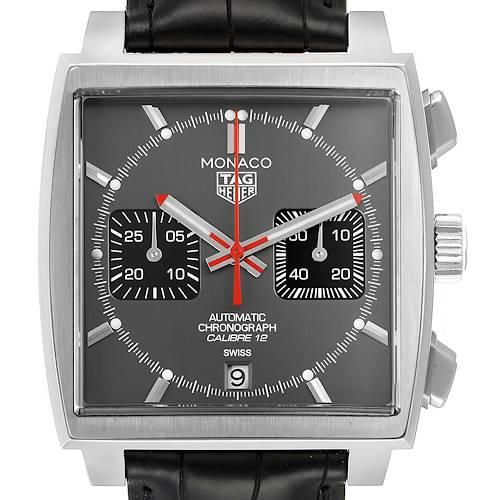 Photo of Tag Heuer Monaco Grey Dial Limited Steel Mens Watch CAW211J Unworn