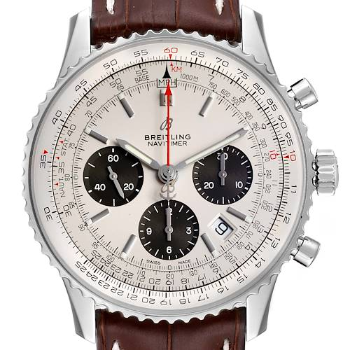 Photo of Breitling Navitimer 01 Panda Dial Automatic Steel Mens Watch AB0120 Box Papers