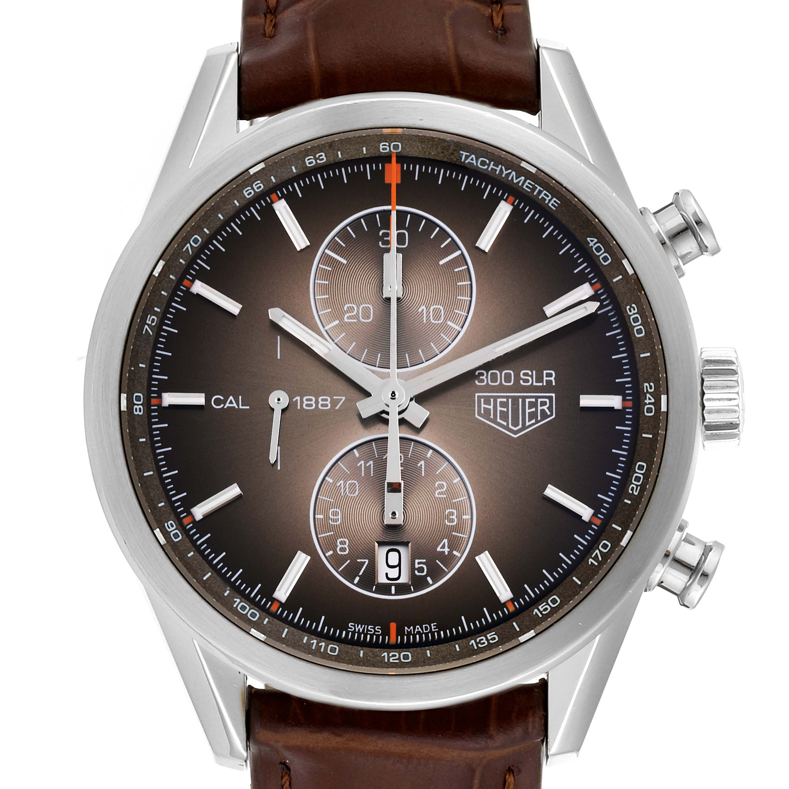 Photo of Tag Heuer Carrera Brown Dial Chronograph Steel Mens Watch CAR2112