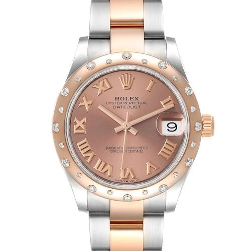 Photo of Rolex Datejust 31 Midsize Steel Rose Gold Diamond Watch 278341 Unworn