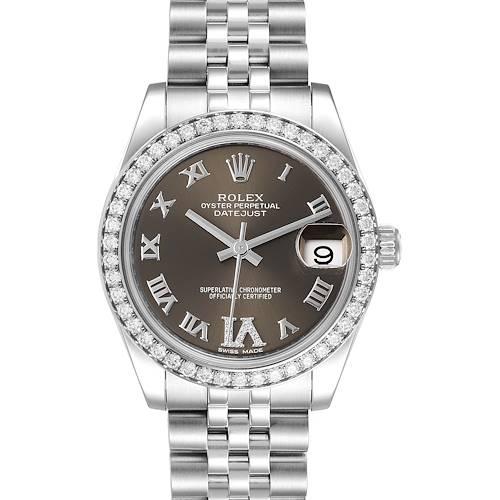 Photo of Rolex Datejust Midsize 31 Steel Diamond Ladies Watch 178384 Unworn