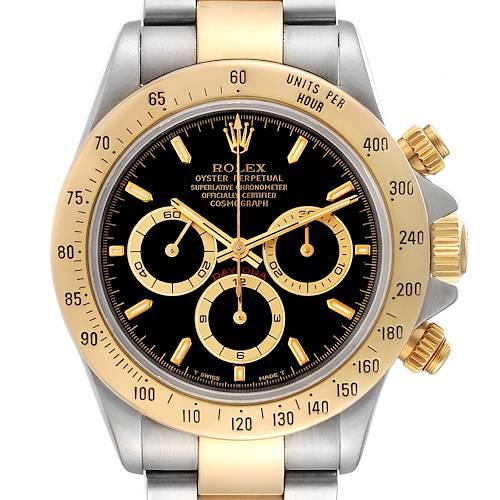 Photo of Rolex Daytona Steel Yellow Gold Black Dial Mens Watch 116523