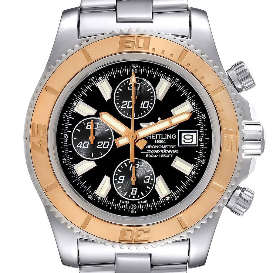 Breitling Aeromarine SuperOcean II Steel Rose Gold Watch C13341 Box Papers SwissWatchExpo