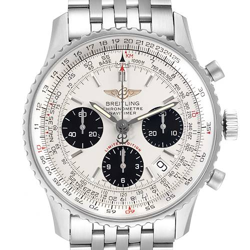 Photo of Breitling Navitimer Chronograph Panda Dial Steel Mens Watch A23322