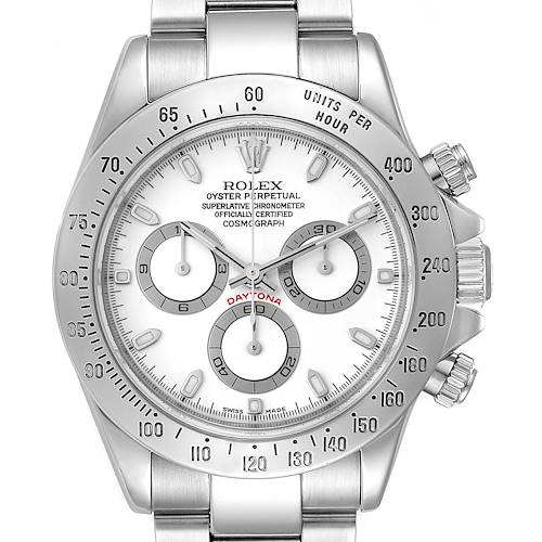 Photo of Rolex Daytona White Dial Chronograph Stainless Steel Mens Watch 116520