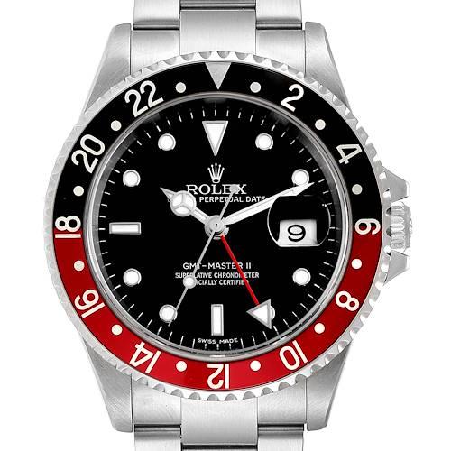 Photo of Rolex GMT Master II Error Dial Coke Bezel Steel Mens Watch 16710