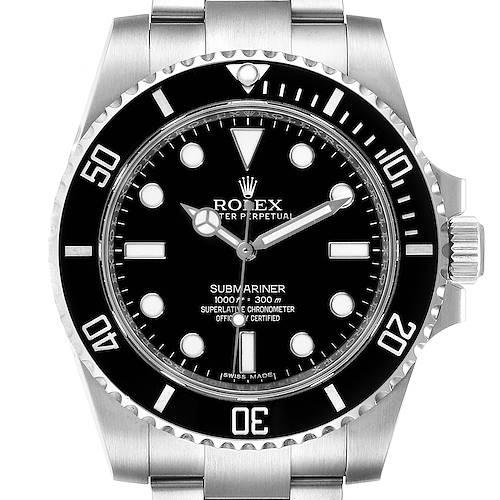 Photo of Rolex Submariner 40mm Black Dial Ceramic Bezel Steel Watch 114060