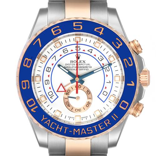 Photo of Rolex Yachtmaster II Rolesor EveRose Gold Steel Mens Watch 116681