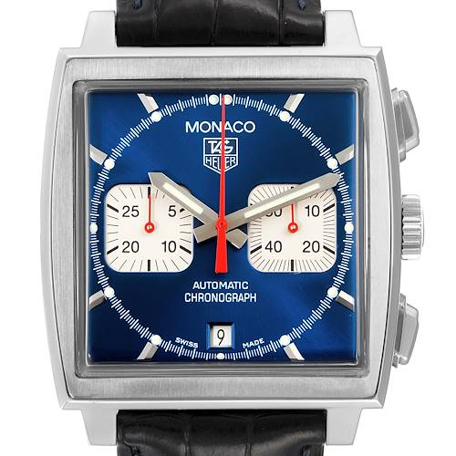 Photo of Tag Heuer Monaco Automatic Chronograph Blue Dial Mens Watch CW2113