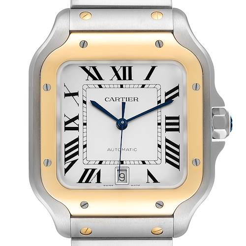 Photo of Cartier Santos de Cartier Large Steel Yellow Gold Watch WSSA0009 Unworn