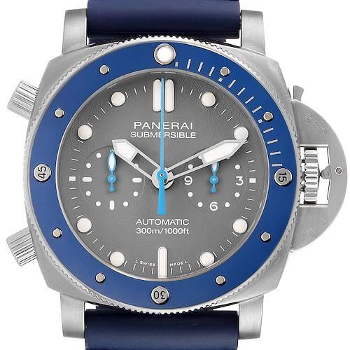 Photo of Panerai Luminor Submersible Guillaume Nery Titanium Watch PAM00982 Unworn