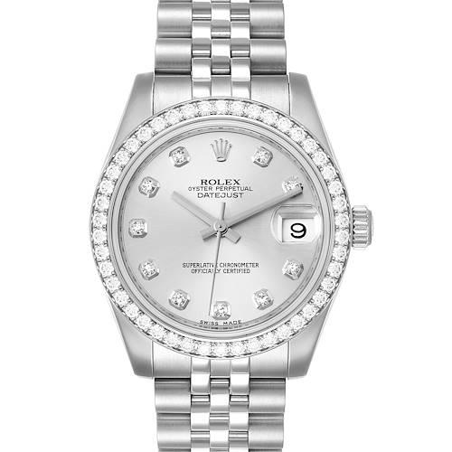 Photo of Rolex Datejust Midsize 31mm Steel White Gold Diamond Ladies Watch 178384