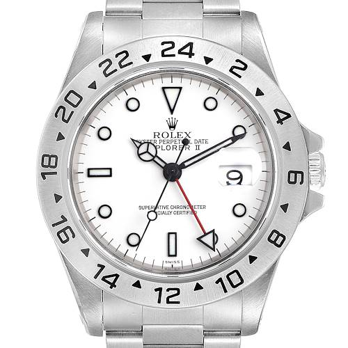 Photo of Rolex Explorer II White Dial Stainless Steel Mens Watch 16570