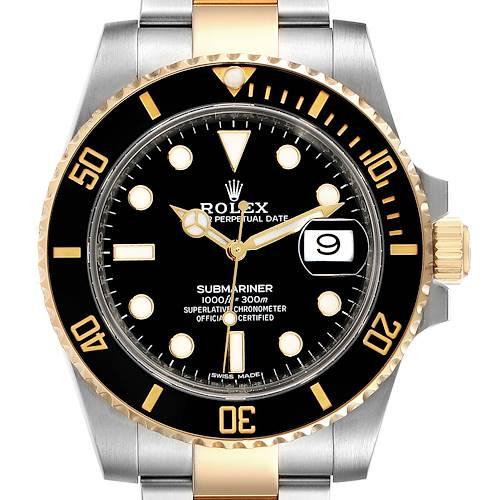 Photo of Rolex Submariner Steel Yellow Gold Black Dial Mens Watch 116613