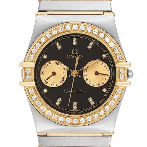 Photo of Omega Constellation Day Date Steel Yellow Gold Diamond Mens Watch