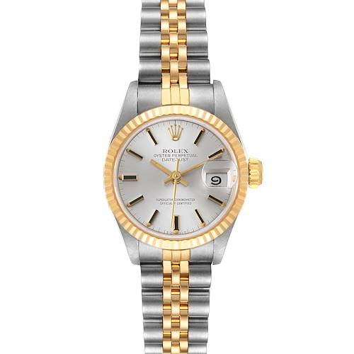 Photo of Rolex Datejust Steel Yellow Gold Silver Dial Ladies Watch 69173