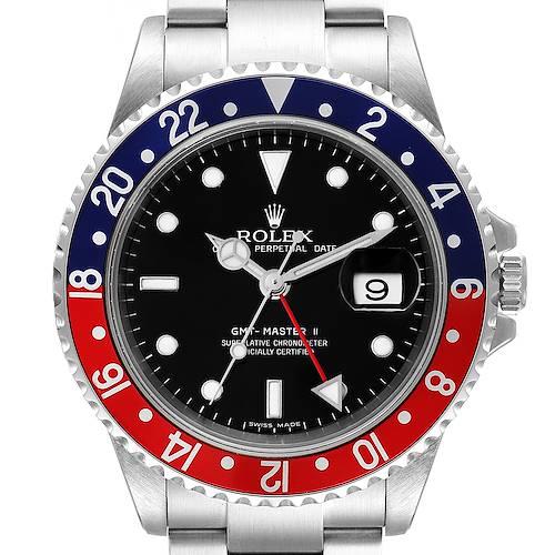 Photo of Rolex GMT Master II Error Dial Pepsi Bezel Steel Mens Watch 16710