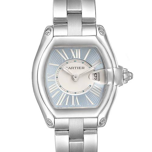 Photo of Cartier Roadster Blue and White Dial Steel Ladies Watch W62053V3