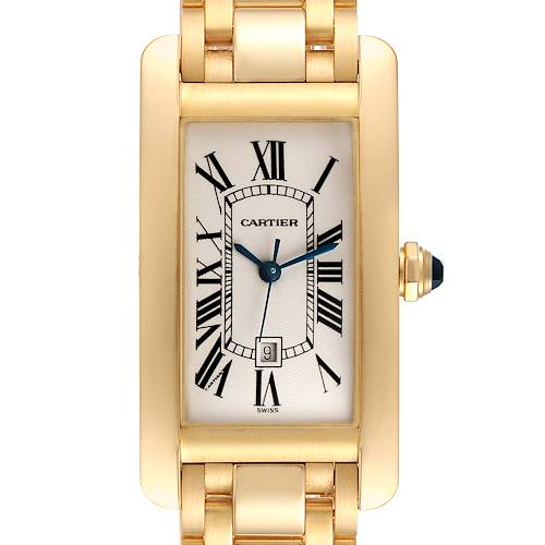 Photo of NOT FOR SALE Cartier Tank Americaine Midsize Yellow Gold Automatic Ladies Watch 1725 PARTIAL PAYMENT, MINUS FOUR LINKS = -$800