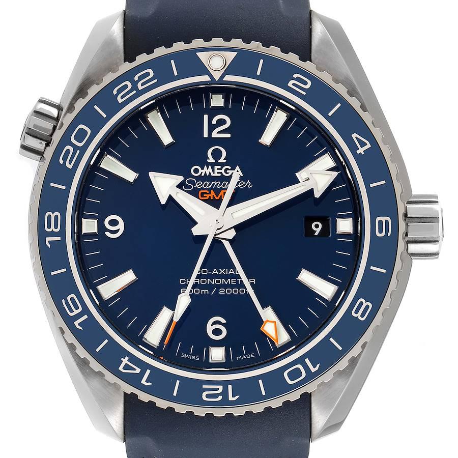 Omega Seamaster Planet Ocean GMT 600m Watch 232.92.44.22.03.001 Box Card SwissWatchExpo