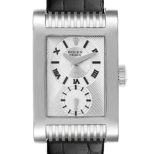 Photo of Rolex Cellini Prince 18k White Gold Silver Dial Mens Watch 5441 Unworn