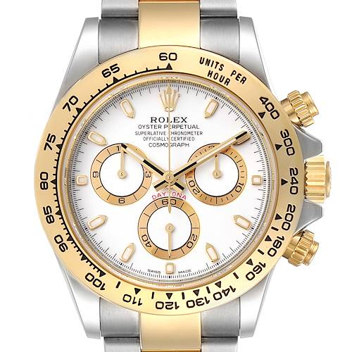 Photo of Rolex Cosmograph Daytona Steel Yellow Gold Mens Watch 116503