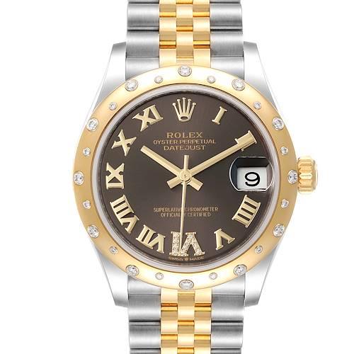 Photo of Rolex Datejust 31 Midsize Steel Yellow Gold Diamond Ladies Watch 278343 Unworn
