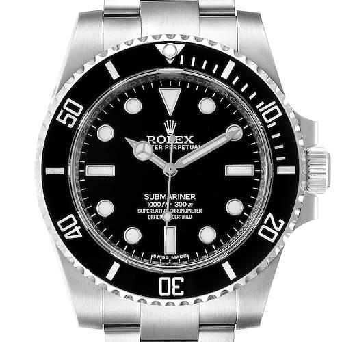 Photo of Rolex Submariner 40mm Black Dial Ceramic Bezel Steel Watch 114060 Box Card