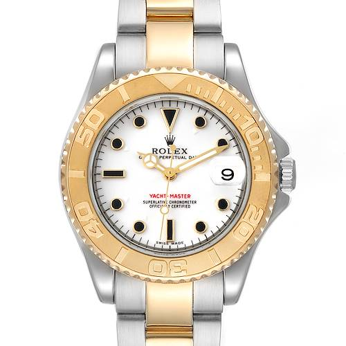 Photo of Rolex Yachtmaster 35 Midsize Steel Yellow Gold Unisex Watch 168623