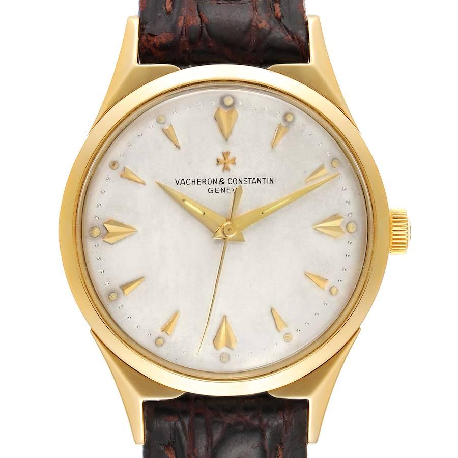 Vacheron Constantin 35 mm 18k Yellow Gold Silver Dial Vintage Mens Watch SwissWatchExpo