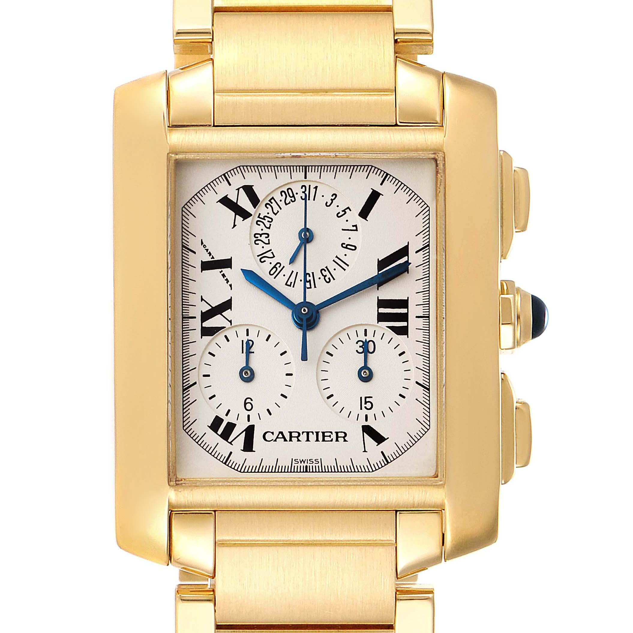 Photo of Cartier Tank Francaise Chrongraph Yellow Gold Quartz Watch W50005R2