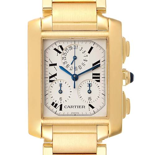Photo of Cartier Tank Francaise Chrongraph Yellow Gold Quartz Watch W50005R2