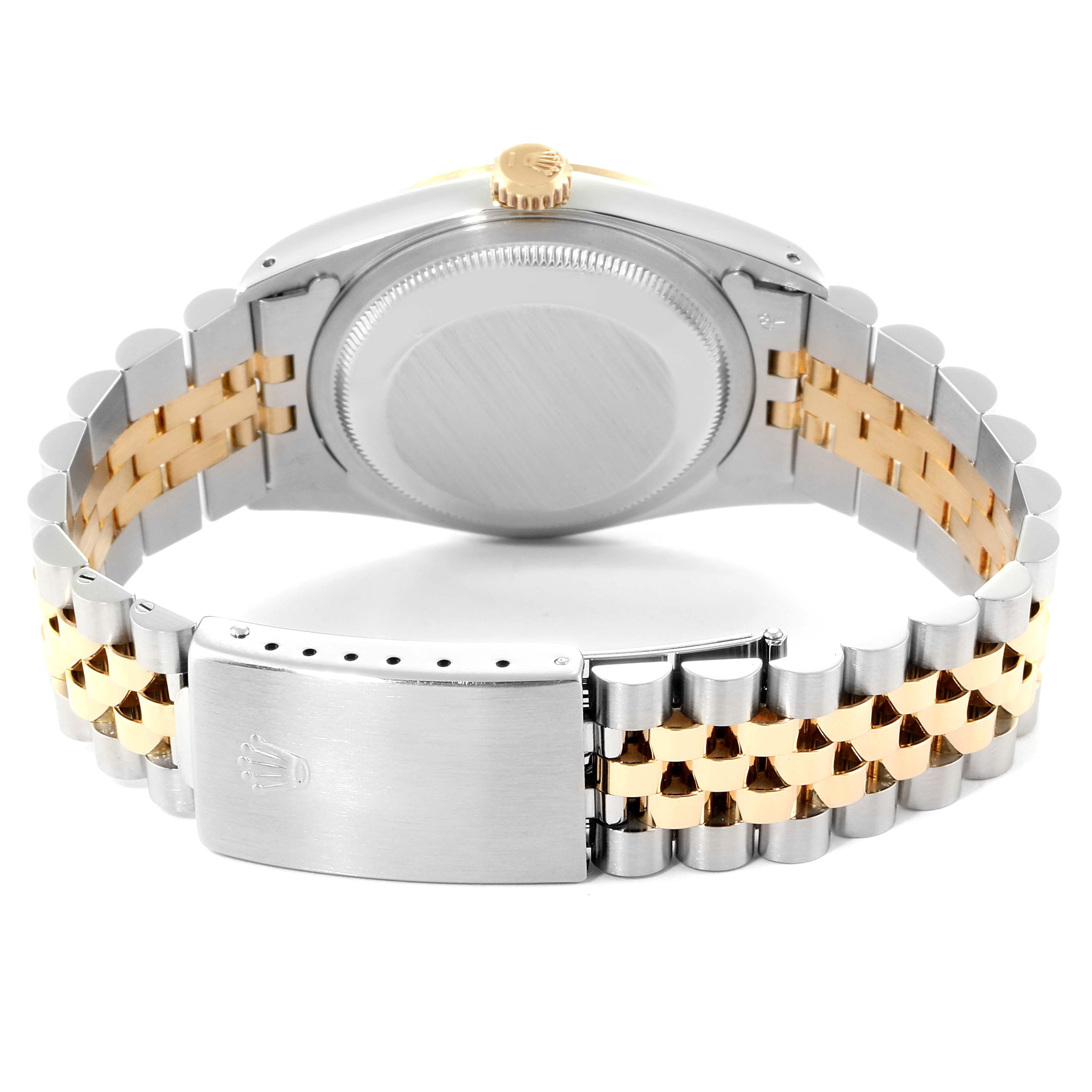 Rolex Datejust Steel Yellow Gold Black Dial Mens Watch 16233 Box SwissWatchExpo